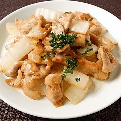 豚肉と白菜の洋風ガーリックソテー