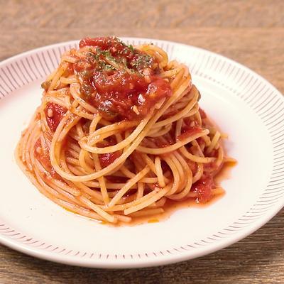激辛 ハラペーニョの冷製トマトパスタ