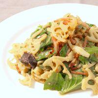 レンコンとベーコンの簡単サラダ