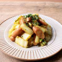 白菜とソーセージのカレー炒め