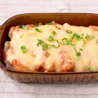 豚バラ肉とトマトの明太マヨチーズ焼き