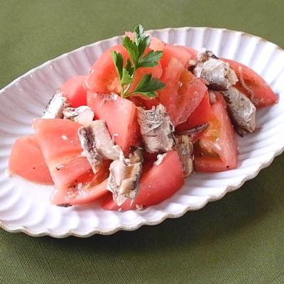 オイルサーディンとトマトのイタリアン風サラダ