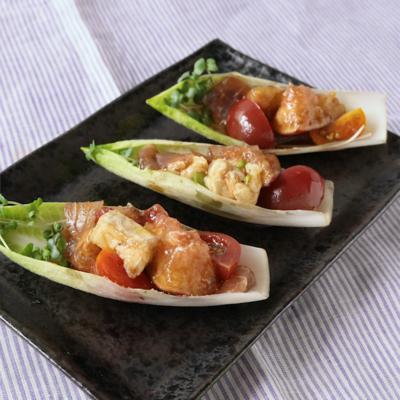 イチジクのチコリーボードサラダ