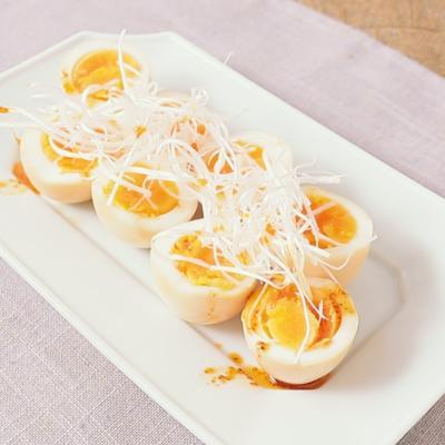 めんつゆで簡単 おつまみ煮卵