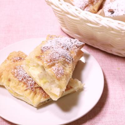 冷凍パイシートで簡単!バナナチーズパイ