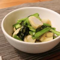 小松菜と里芋のピリ辛味噌炒め