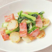 小松菜と長芋のナンプラー炒め