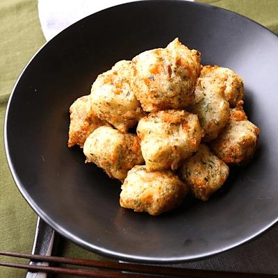 秋鮭と長芋のコロコロ揚げ