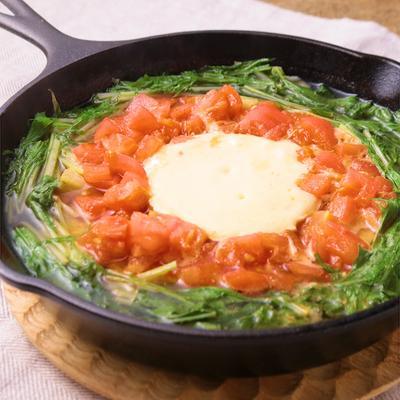 スキレットで カマンベールチーズ鍋