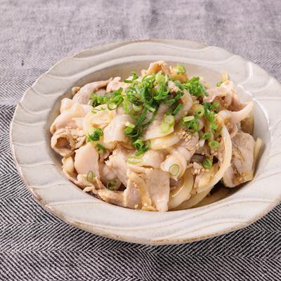 新玉ねぎと豚しゃぶの中華ドレッシングサラダ