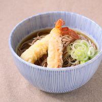 シンプル 冷たいえびの天ぷらそば