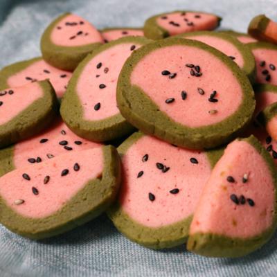 スイカのアイスボックスクッキー
