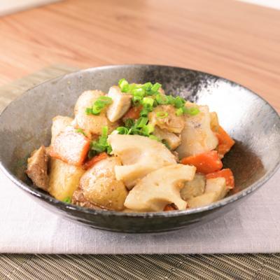 根菜のシャキシャキ味噌マヨ炒め