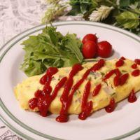 ベーコンとチーズの野菜オムレツ