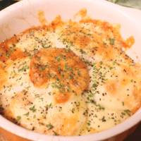 チーズとろける山芋と明太子のオーブン焼き