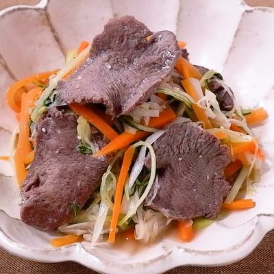 牛タンと彩り野菜の塩炒め