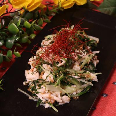 絶対美味しい!ささみと水菜の梅しそ和え