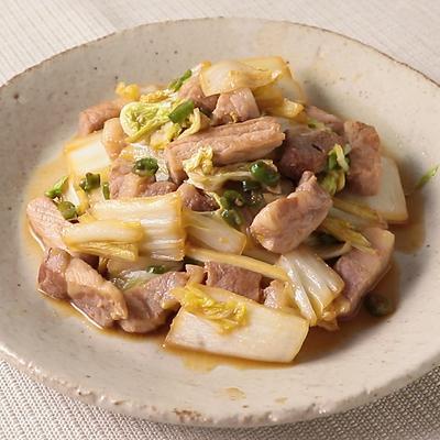 豚肉と白菜の辛みそ炒め
