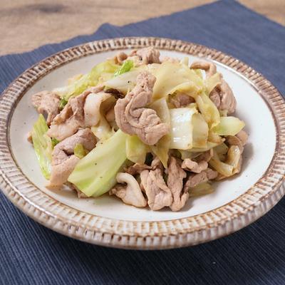 豚肉とキャベツのポン酢山椒炒め