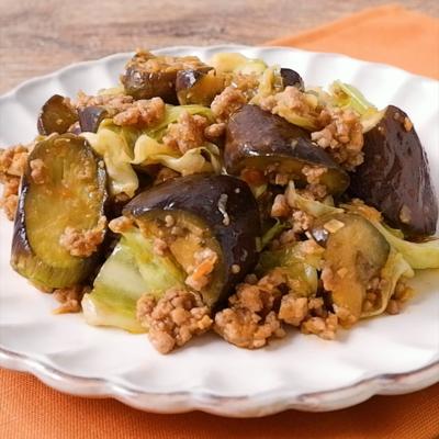 サムジャンで 野菜とひき肉の中華風炒め