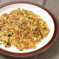 糖質が約80%抑えられる 豆腐ともずくの海鮮チヂミ