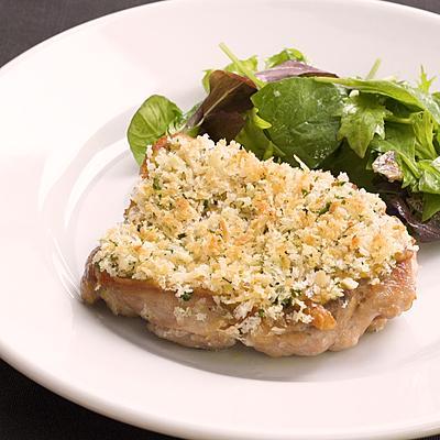 【菊地シェフ】鶏もも肉の香草パン粉焼き