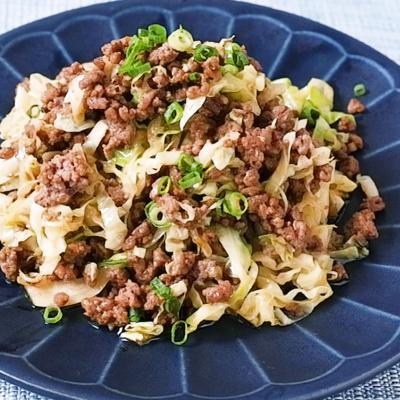 キャベツとひき肉の和風カレー炒め