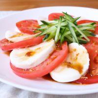 モッツァレラチーズとトマトの中華サラダ