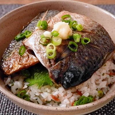 酢飯でサッパリ 焼き鯖丼
