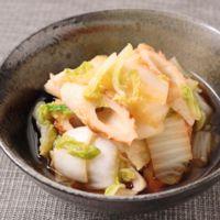 簡単副菜 白菜とちくわの煮浸し