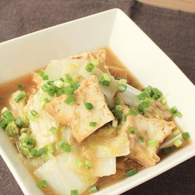 白菜と厚揚げの中華風レンジ煮