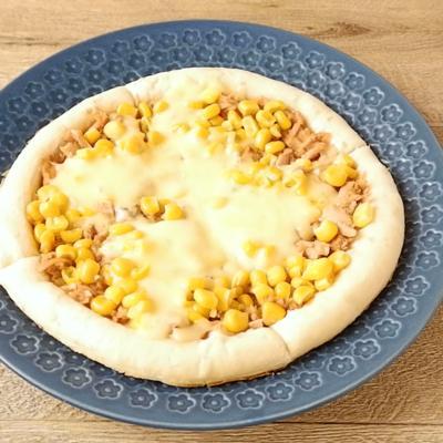 フライパンでお手軽 ツナコーンピザ