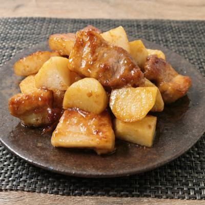 ゴロッと豚肉と長芋のさっぱり照り炒め