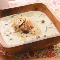 4種のきのこの豆乳味噌スープ