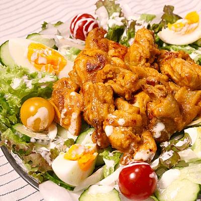 彩り豊か タンドリーチキンのサラダ