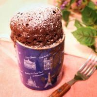 レンジでチン!マグカップdeふわふわチョコケーキ