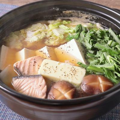 鮭が美味しい 石狩鍋