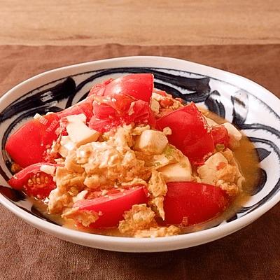 トマトと豆腐のふんわり卵炒め