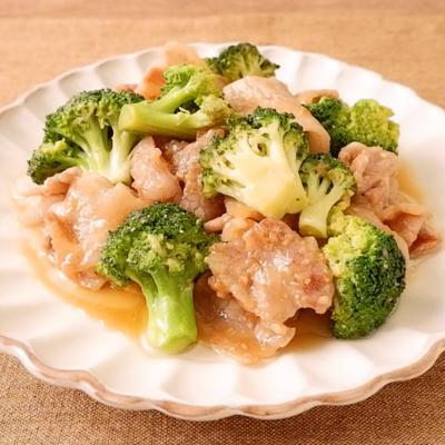 豚バラ肉とブロッコリーのこっくり味噌炒め