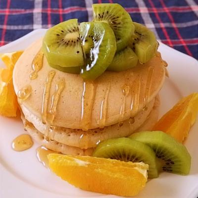 オーツミルクのヴィーガンパンケーキ
