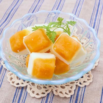 2層のマンゴーヨーグルトアイス