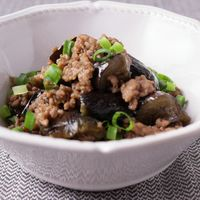 ナスとひき肉の甘辛煮