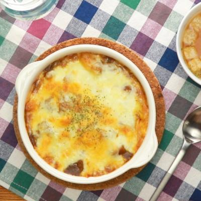 レトルトカレーで 焼きチーズカレー