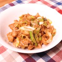 ご飯が進む!葱と鶏肉の甘味噌炒め