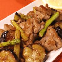 豚バラ肉の夏野菜南蛮炒め