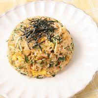 明太子と水菜のマヨしょうゆチャーハン
