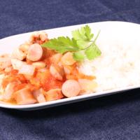 鶏肉と大豆のエストファーロ風