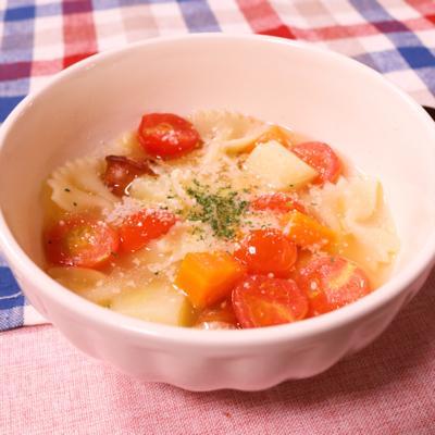 野菜たっぷり!トマトのスープパスタ