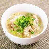 炊飯器で もち麦入りサムゲタン風スープ
