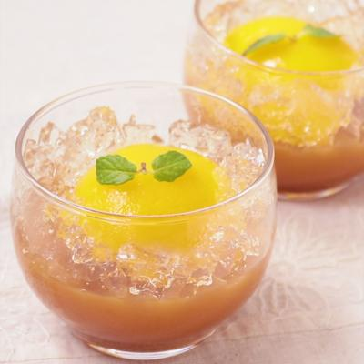 黄桃ドームゼリー